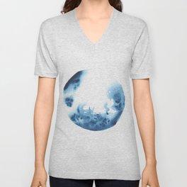Watercolor Circle Abstract Simple | Blue Blob May 26 Unisex V-Neck