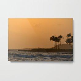 Sunset in Kauai Metal Print