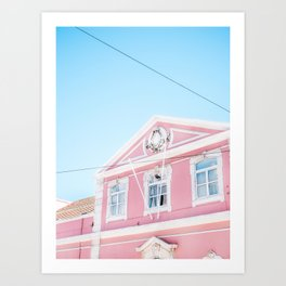 Pink building in Lisbon | Lisboa Portugal fine art travel photography print Art Print