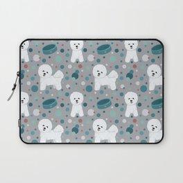 Bichon Frise dog pattern Laptop Sleeve