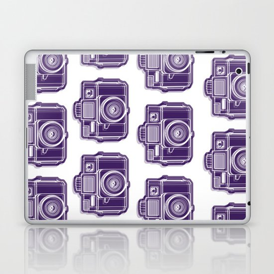 I Still Shoot Film Holga Logo - Deep Purple Laptop & iPad Skin