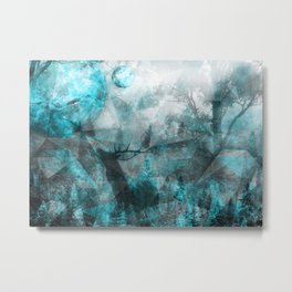 Magic Blue World Metal Print