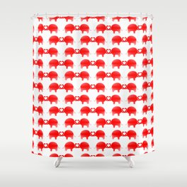 Romance And Elephants Shower Curtain