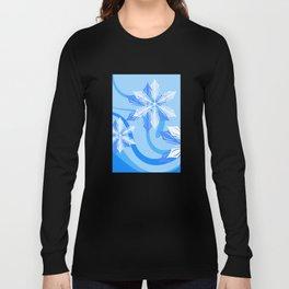The Blue Winter Flower Long Sleeve T-shirt