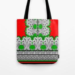 Holiday Frett Panel Print Tote Bag