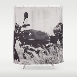 Scrambler photography, motorcycle lovers, motorbike, café racer, cafe racer, man cave gift Shower Curtain