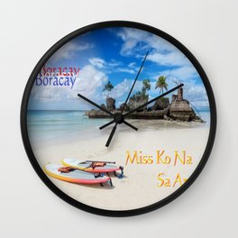Boracay,Philippines,Paradise,Tropical Island in the Pacific Ocean Wall Clock