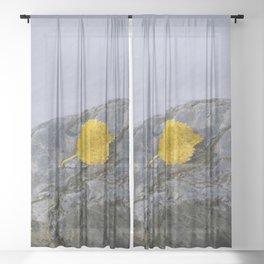 Yellow leaf Sheer Curtain