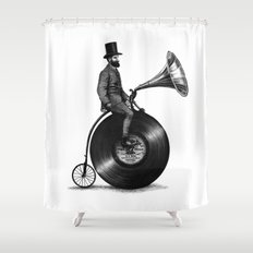 Music Man (monochrome option) Shower Curtain