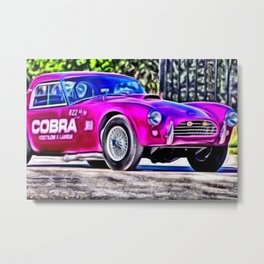 AC Cobra Dragon Snake Limited Edition Prototype Painting by Jeanpaul Ferro Metal Print