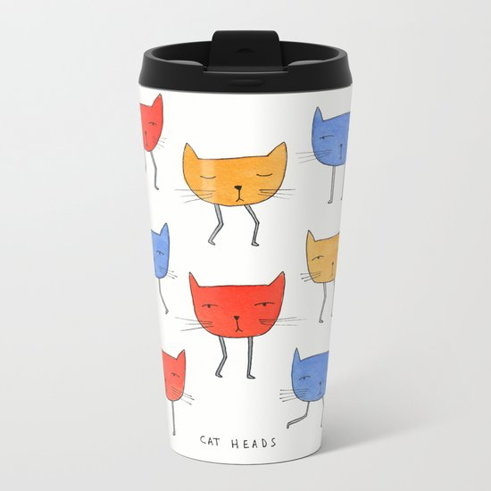 cat heads Metal Travel Mug