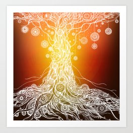 Mandalas Tree Art Print