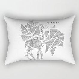 Skeletal Giraffe Rectangular Pillow