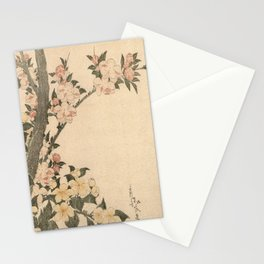 Hokusai, flowers of a cherry-tree- manga, japan,hokusai,japanese,北斎,ミュージシャン Stationery Cards