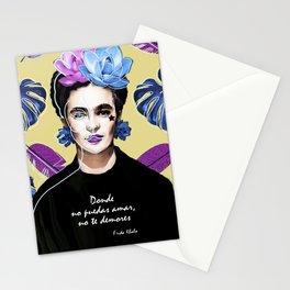 Donde no puedas amar, no te demores - Frida Khalo Stationery Cards