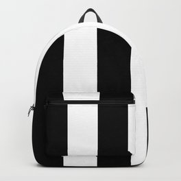 Retro Black & White Stripe Pattern Backpack