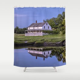 Essex river house reflection Shower Curtain
