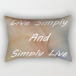 Live Simply Rectangular Pillow