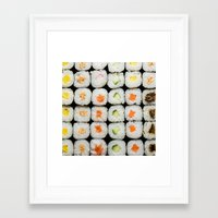 sushi Framed Art Prints featuring Sushi by Katieb1013