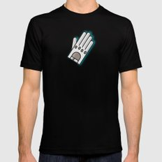 Fancy Glove Icon  Mens Fitted Tee Black MEDIUM
