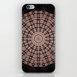 Black and Coral Mandala Design iPhone Skin
