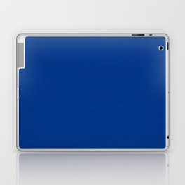 Slate Blue Brush Texture - Solid Color Laptop & iPad Skin