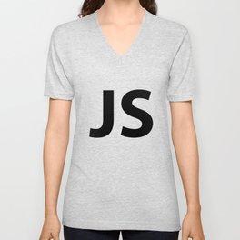JS Logo Black T Shirt Unisex V-Neck