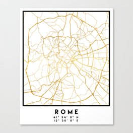 ROME ITALY CITY STREET MAP ART Canvas Print