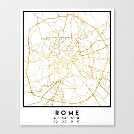 ROME ITALY CITY STREET MAP ART Canvas Print