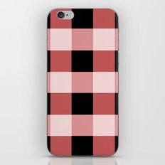 Pink squares iPhone & iPod Skin