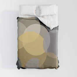 Overlapping - Yellow White Grey Duvet Cover
