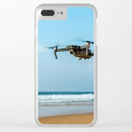 UAV Drone Quadcopter And Digital Camera Flying, Technology, Unmanned Aerial Vehicle, Drone Photo Clear iPhone Case