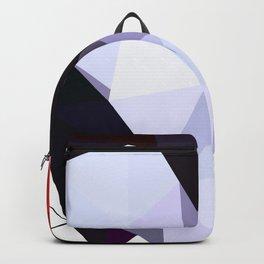 Geometric bird Tangarazinho Black Gray red Backpack