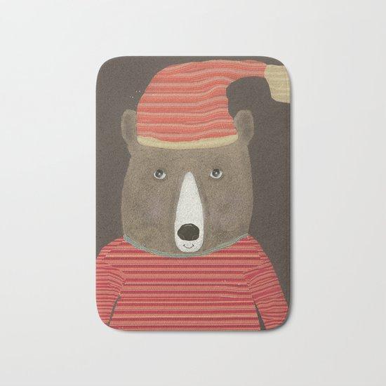 sutton bear Bath Mat
