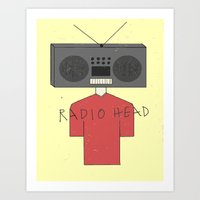 radiohead Art Prints featuring Radiohead by Courtney Vlaming