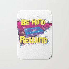 80s 90s Nostalgia Be Kind Rewind VHS Retro Party Gift Bath Mat