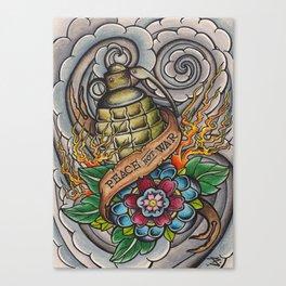Peace Not War Canvas Print