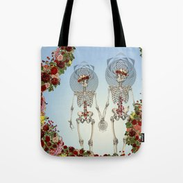 The Summer of Love anatomical skeleton collage art by bedelgeuse Tote Bag