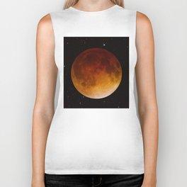 Lunar Eclipse Close Up Biker Tank