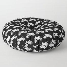 Dirt Bikes // Black Floor Pillow