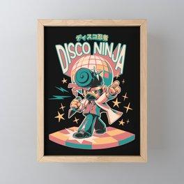 Disco Ninja Framed Mini Art Print