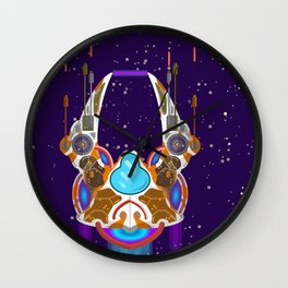 starship in space Wall Clock
