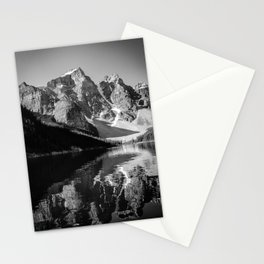 Moraine Lake (Black & White) Stationery Cards