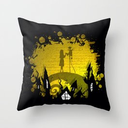 Jack Skellington and Sally Throw Pillow