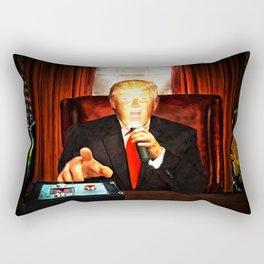 President Trump? Now that's Scary! 2 Rectangular Pillow