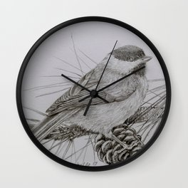 Sweet little Chickadee Wall Clock
