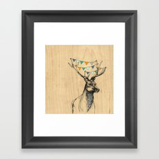Where's the party? Framed Art Print