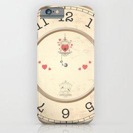 Wall clock heart iPhone Case