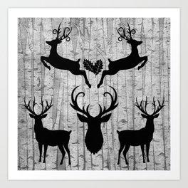 Birch Tree Forest Art Print