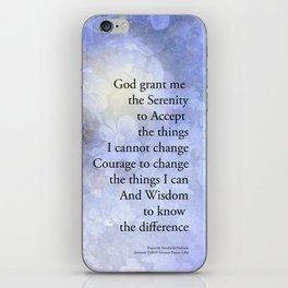 Serenity Prayer Veronica iPhone Skin